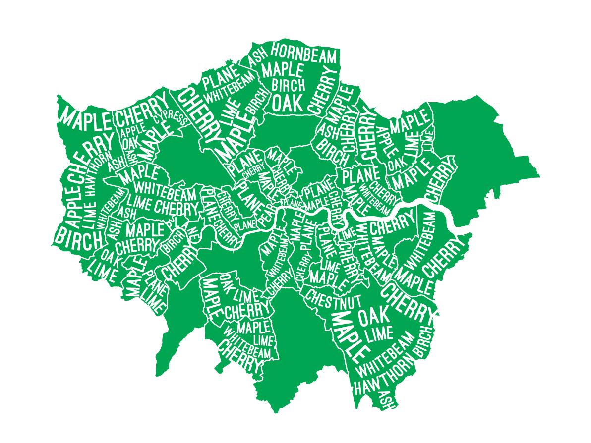 London Street Trees typemap